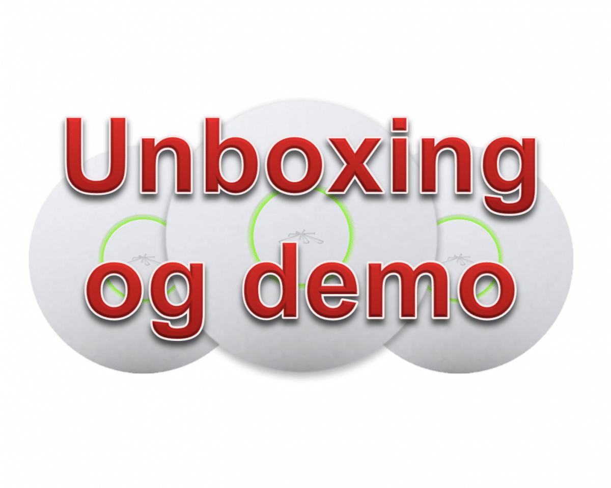Ubiquiti AP-AC-LR + Unifi unboxing og demonstration