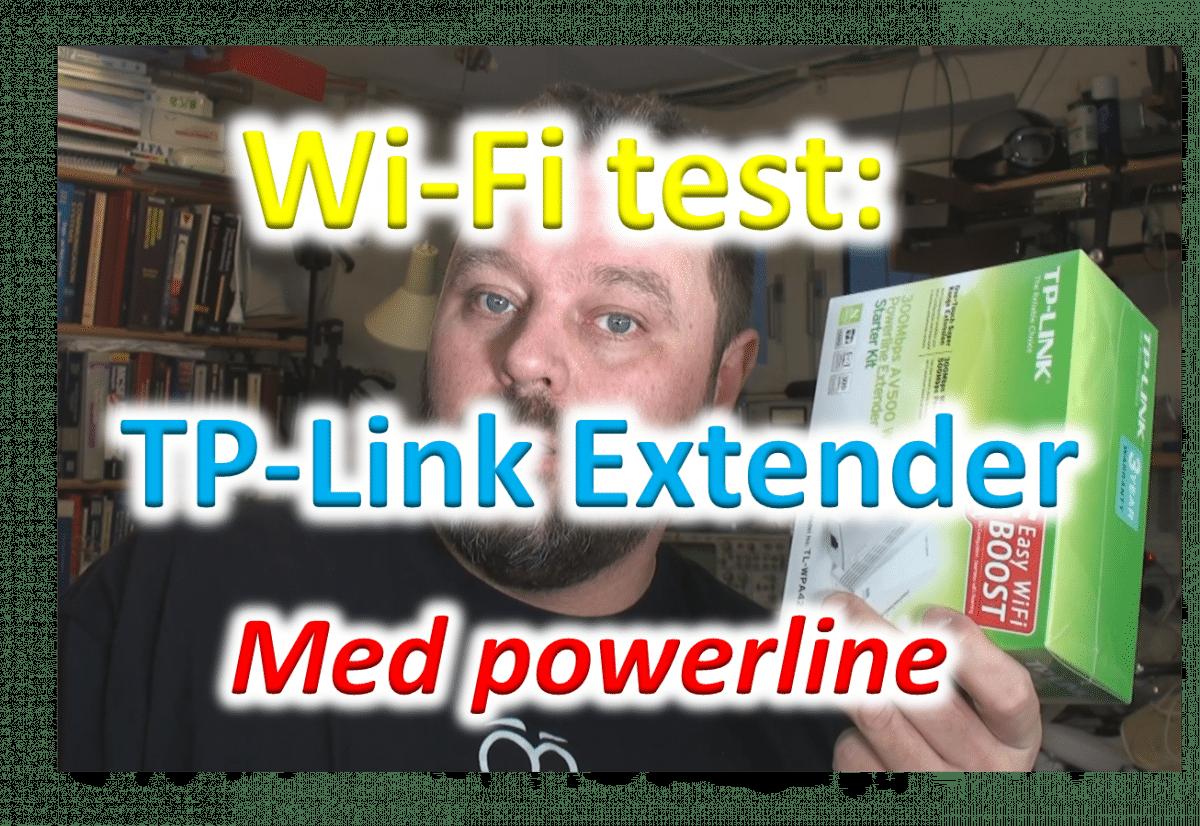 Anmeldelse: TP-Link wifi extender med powerline