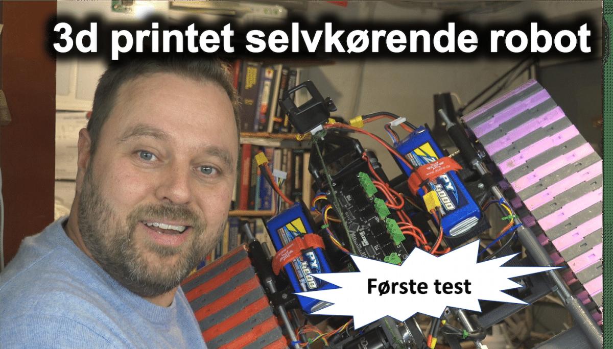 Selvkørende robot – Del 2: Første testkørsel