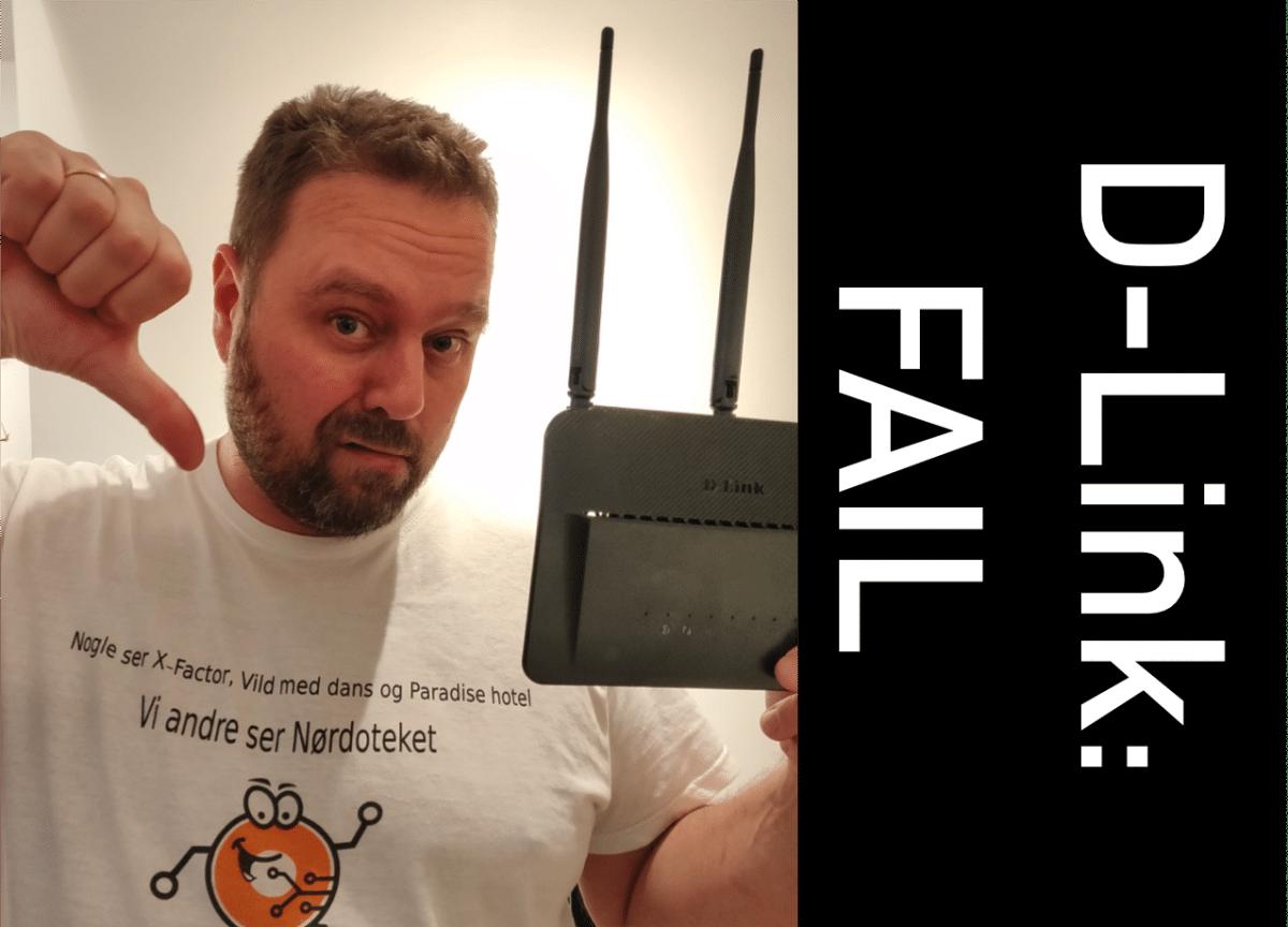 Chokerende mange grundlæggende fejl i D-Link router!