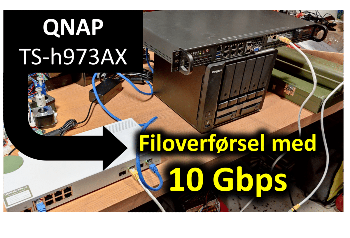 Test: En NAS med 10G netværk (Qnap TS-h973AX)